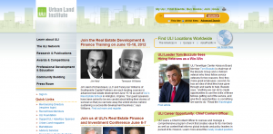 urban land institute home page