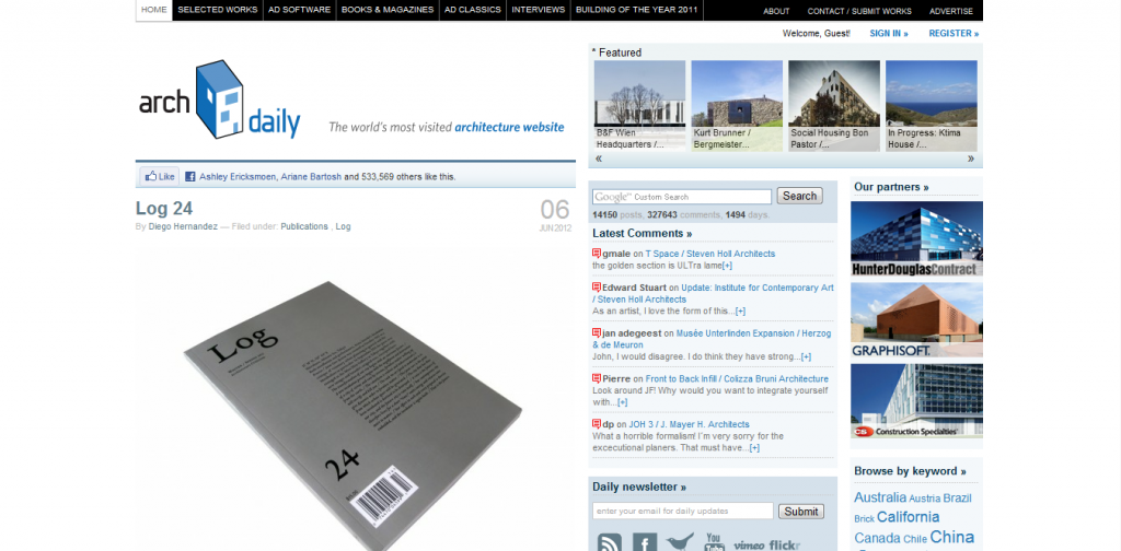 Top 20 international architecture websites 2012 giants of for Best architects websites