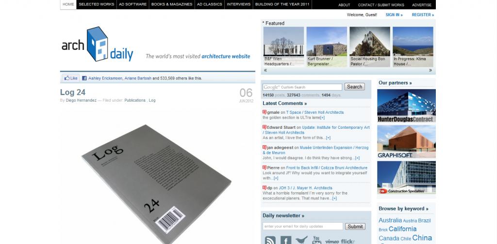 Top 20 International Architecture Websites 2012 Giants Of