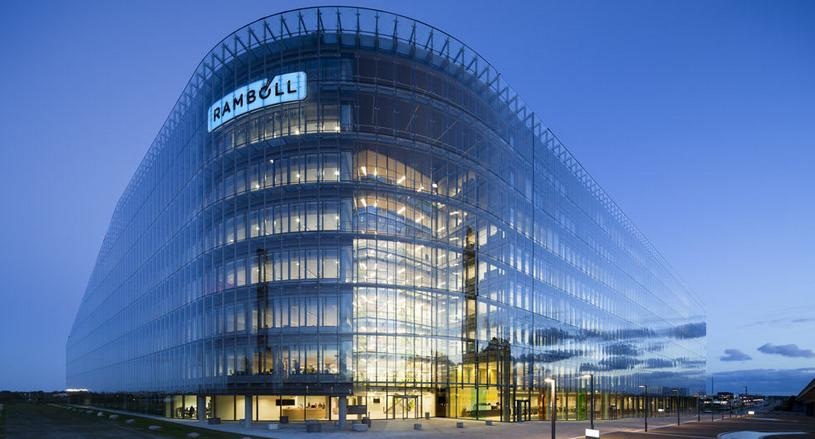 Ramboll`s head office building, energy-optimised administration quarters