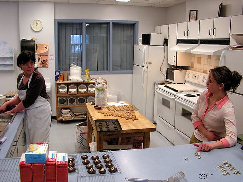 A community kitchen, by design, allows all urban participants to use the space equally for food production.