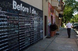 """Before I Die..."" wall in Minneapolis, Minnesota; Photo credit: Matthew Traucht"