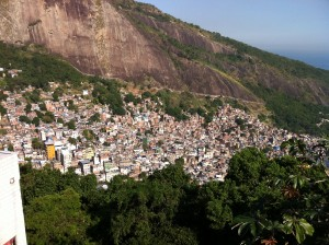 Rocinha from the top of the hill