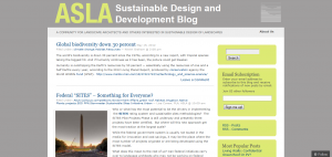 American Society of Landscape Architects Sustainable Design and Development Blog