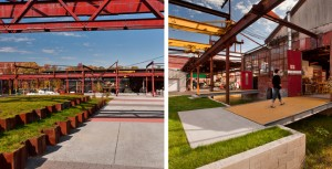 Landscape architects were awarded by the ASLA's Professional Awards in 2011 for the Steel Yard remediation.