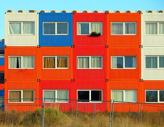 Container student housing in Amsterdam