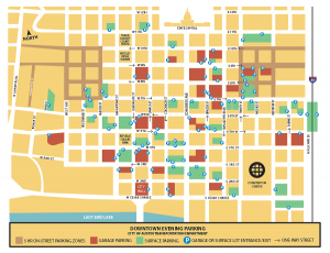 Map of Paid Parking in Central Austin