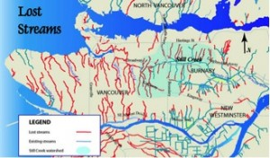 Historic creeks in the Greater Vancouver Area