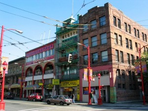Historic buildings in Vancouver's Chinatown neighborhood