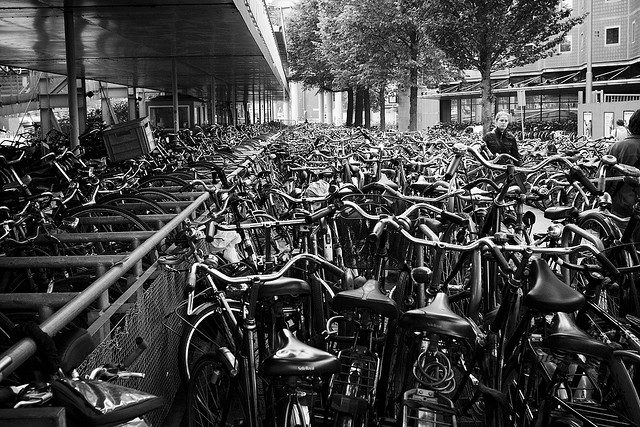 Bike parking in Netherlands
