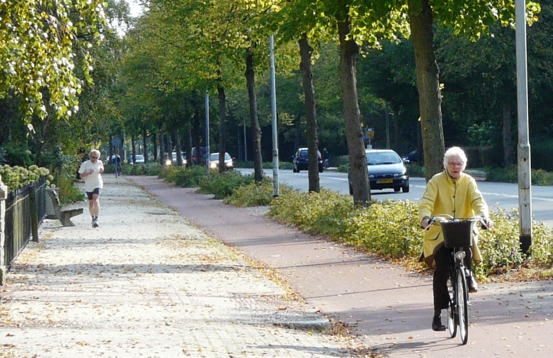 Elderly Biking Amsterdam