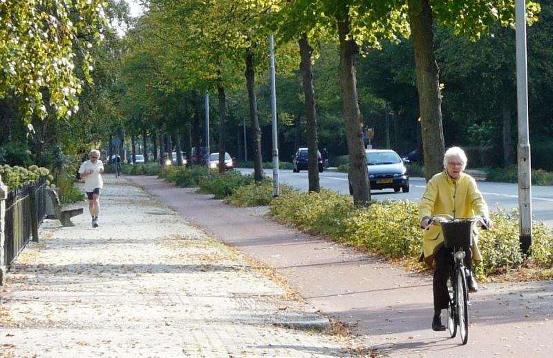 Elderly Biking Amsterdam