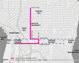 Map of Seattle's streetcar lines