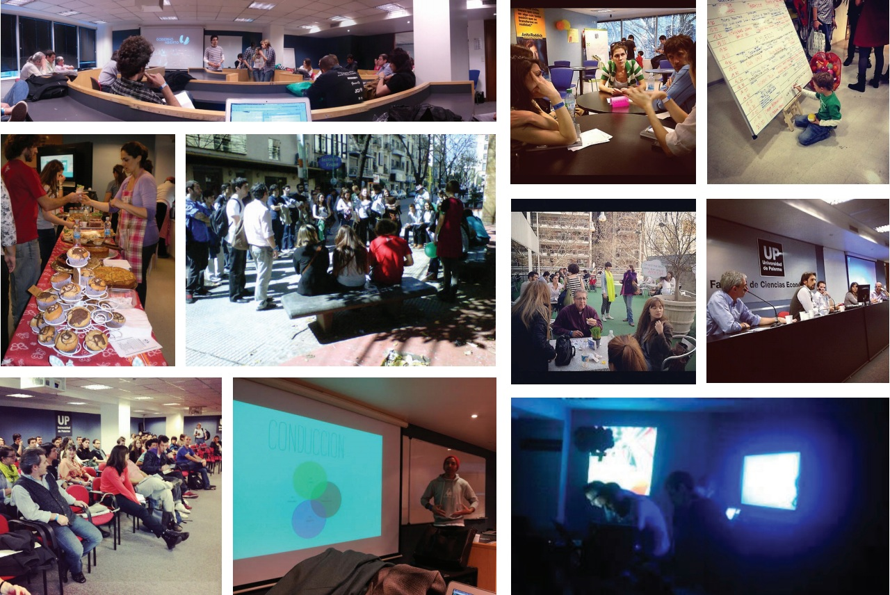 Collage of Talks, Forums and Ludic Activities of the Conference