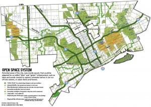 "Detroit's ""Future City"" Plan for more Green spaces and Blue infrastructure"
