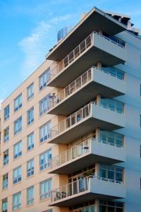 Midtown modern corner balconies