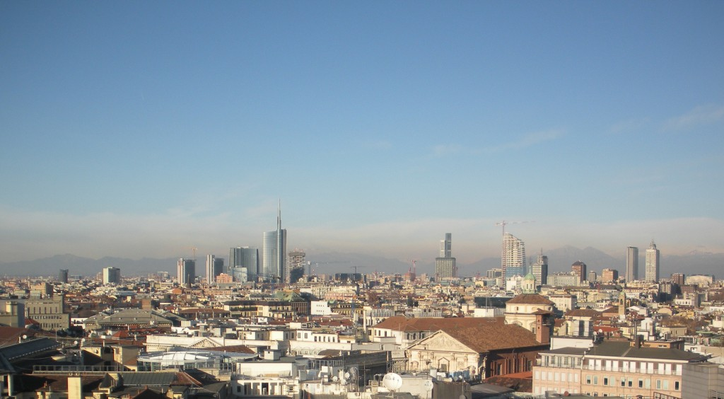 View of North Milan, Porta Garibaldi Towers
