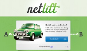 Netlift website homepage