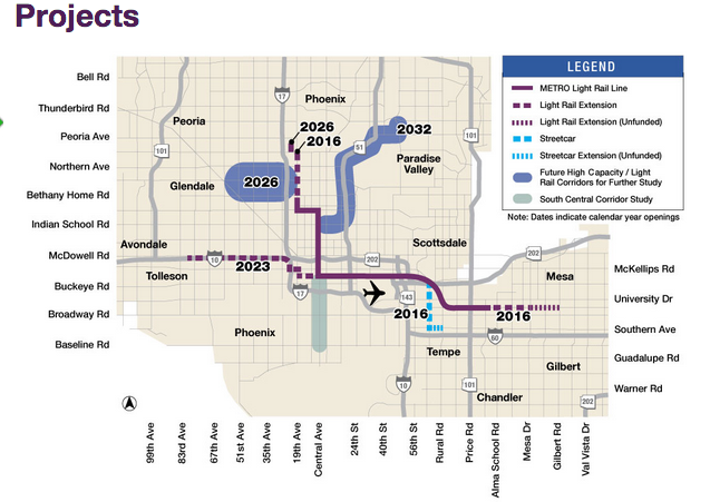 Phoenix Valley Metro Transportation Planning