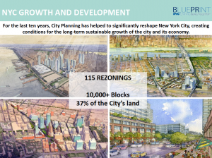 NYC Growth and Development, BluePrint Presentation