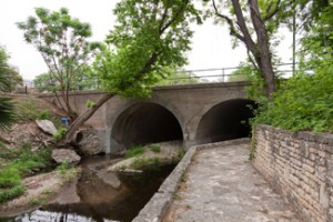 Waller Creek at 15th Street and Trinity Street: Demonstrates the current state of parts of the creek and the incredible potential of this natural resource.