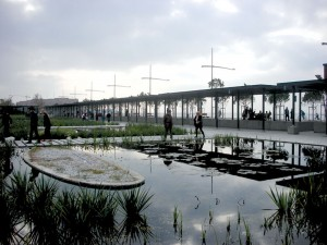 The new waterfront, Garden of Water,Thessaloniki, Greece