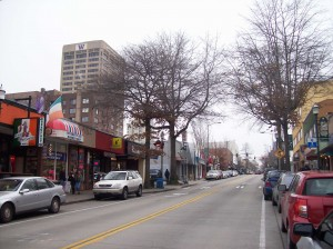 """The Ave"" in the U-District"