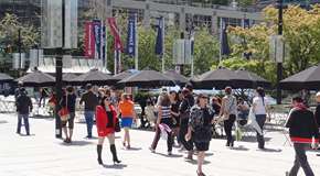 Summer openings of the 800 Block of Robson Street have brought life and community to the square