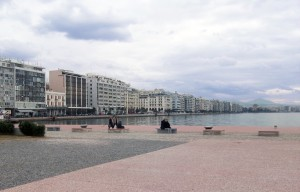 Regeneration of the Pier A-Port of Thessaloniki and view of the city