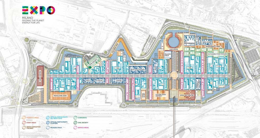 Milan Expo Site Plan 2015