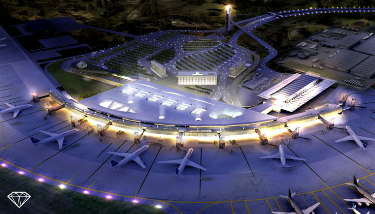 Render for the Planned Ezeiza Airport Expansion