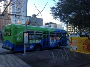 DASH Bus Downtown,  Photo by James Gardner