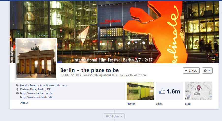 Facebook Page of Berlin
