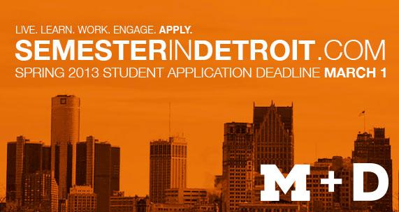 Semester in Detroit at University of Michigan