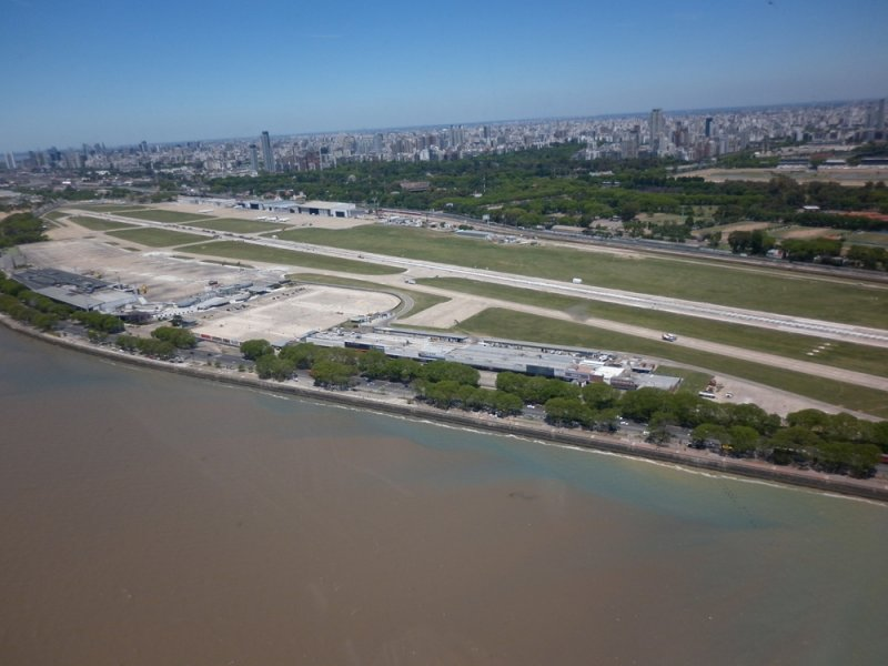 Aerial photography of Aeroparque Airport - Provided by the Unión de Aviadores de Líneas Aéreas