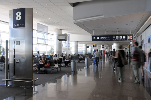 Exit Gates at Aeroparque Airport - Provided by Aeropuertos Argentina 2000