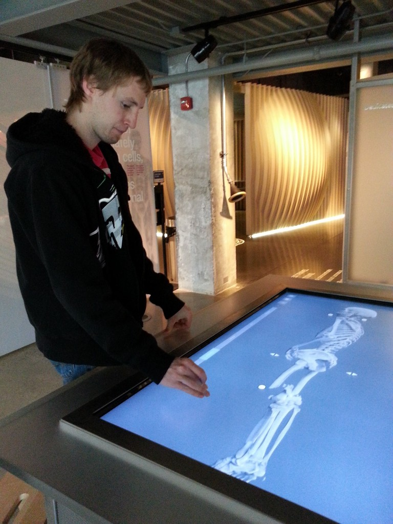 A young adult performs a virtual autopsy