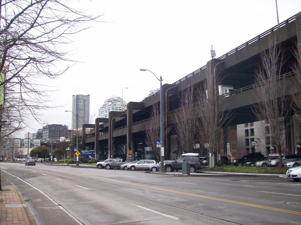 Alaskan Way Viaduct in downtown Seattle