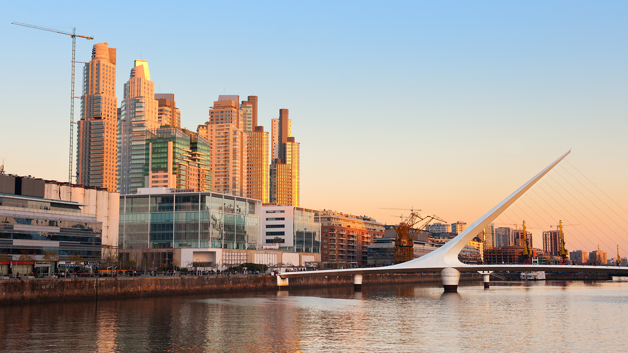 Madero Harbour in Buenos Aires, the 'smartest' neighborhood in the city.