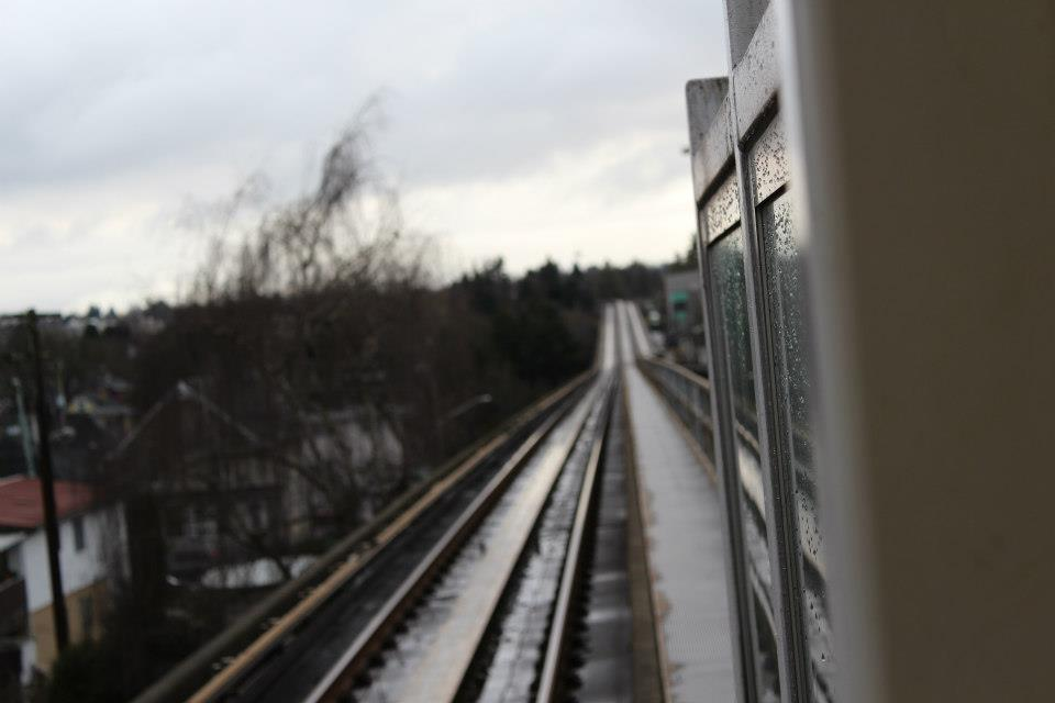 Existing SkyTrain track