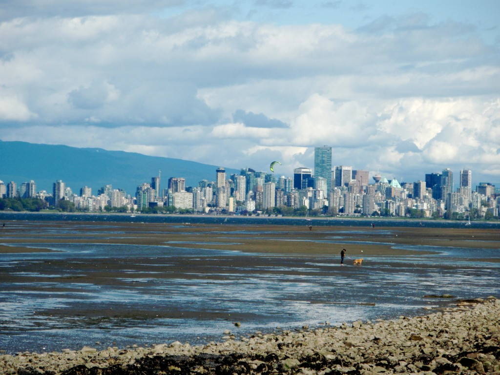 Downtown Vancouver as seen from Jericho Beach