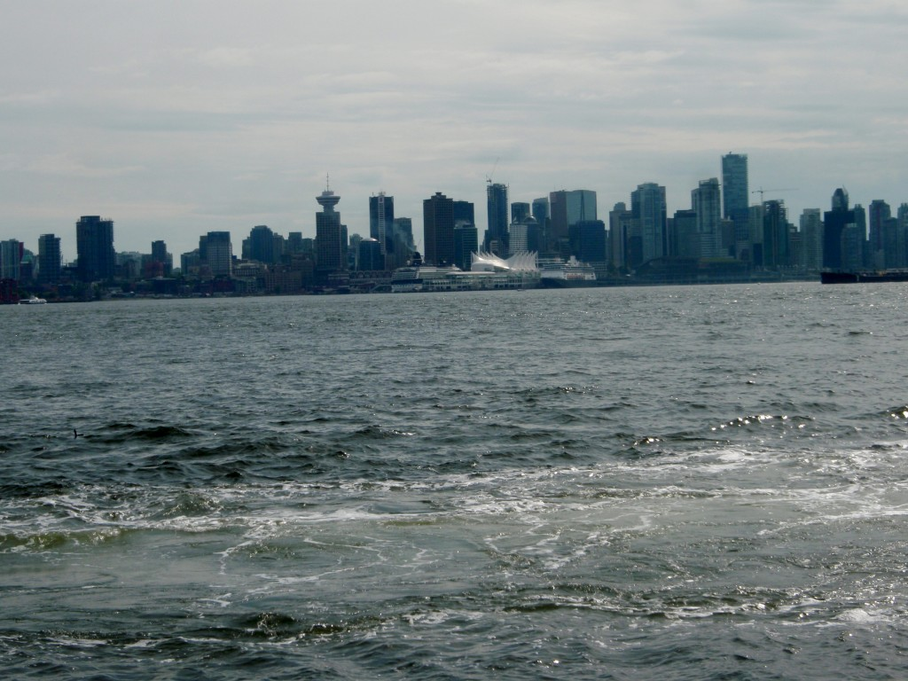 Vancouver skyline as seen from North Vancouver shore