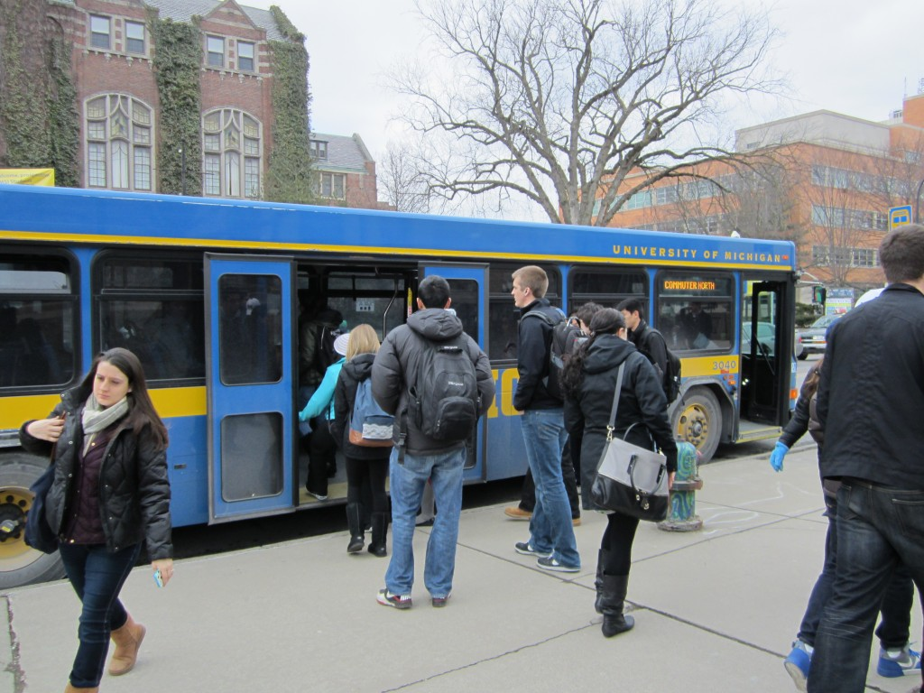 University of Michigan Blue Bus