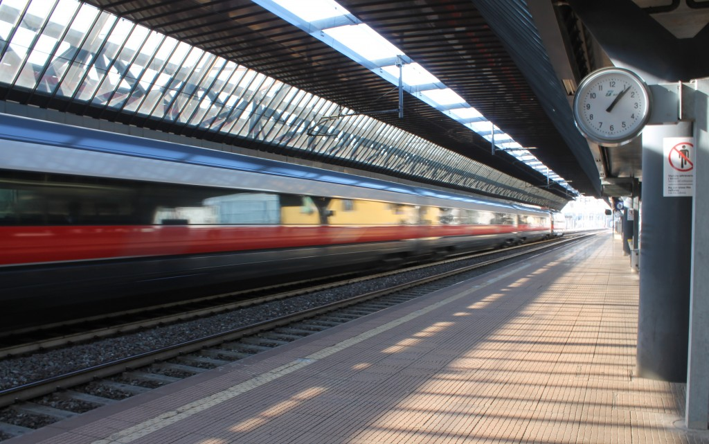 Milan Lancetti Train Station with Frecciarossa
