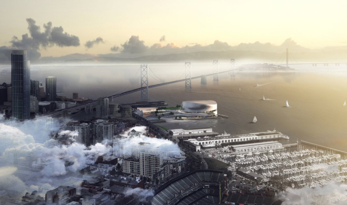 Architect's Rendering of New Stadium & Entertainment Center