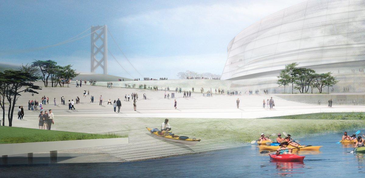 Architect's Rendering of Plazas