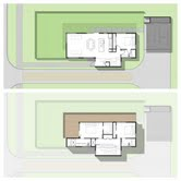 Floor plan of the 1538 sqft. 3/3 home. Top: 1st floor; Bottom: 2nd floor
