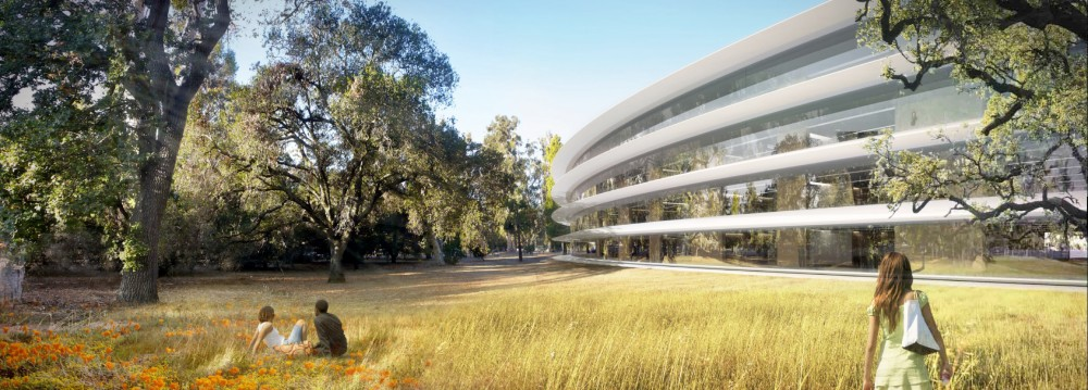 Perspective of Apple's New Campus in Cupertino, CA