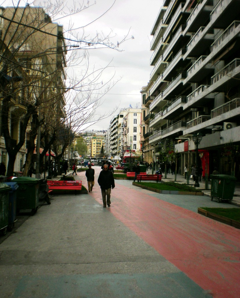 Pilot pedestrianization of St.Sophia's Street, Thessaloniki, Greece