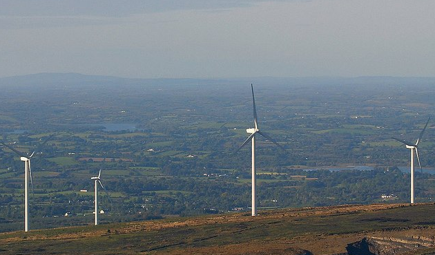 Lack wind farm in County Fermanagh, Northern Ireland has significant impact on the landscape of the region